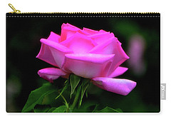 Carry-all Pouch featuring the photograph Pink And White Rose 005 by George Bostian