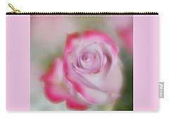 Carry-all Pouch featuring the photograph Pink And White Rose  by Diane Alexander
