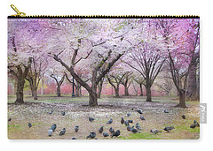 Carry-all Pouch featuring the photograph Pink And White Spring Blossoms - Boston Common by Joann Vitali