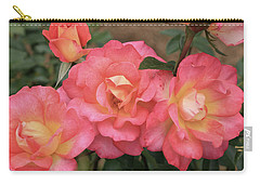 Pink And Yellow Carry-all Pouch by Dennis Baswell