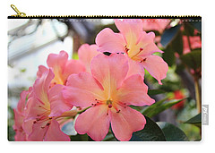 Pink And Yellow Vireya Carry-all Pouch by Karen Silvestri