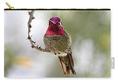 Pink Anna's Hummingbird Carry-all Pouch