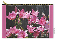 Pink Asiatic Lilies Carry-all Pouch