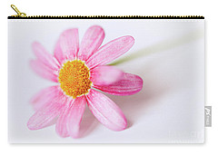 Pink Aster Flower II Carry-all Pouch by Nick Biemans