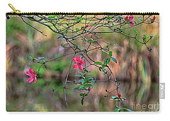 Carry-all Pouch featuring the photograph Pink Azalea Dream by Deborah Benoit