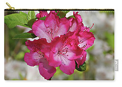 Carry-all Pouch featuring the photograph Pink Azalea by Sandy Keeton