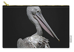 Pink-backed Pelican Rear View Carry-all Pouch
