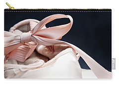 Pink Ballerina Pointe Shoes Carry-all Pouch