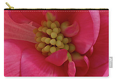 Pink Begonia Stamen - Macro Carry-all Pouch