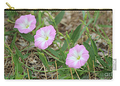 Carry-all Pouch featuring the photograph Pink Bindweed by Ann E Robson