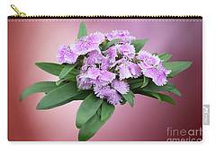 Pink Blooming Plant Carry-all Pouch