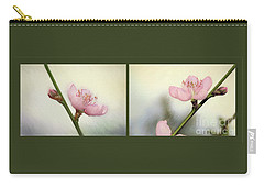 Carry-all Pouch featuring the photograph Pink Blossom Collage By Kaye Menner by Kaye Menner