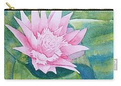 Pink Bromiliad Carry-all Pouch