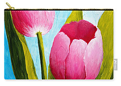 Pink Bubblegum Tulip II Carry-all Pouch