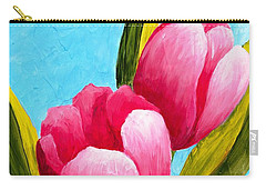Pink Bubblegum Tulips I Carry-all Pouch