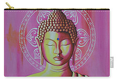 Pink Buddha Carry-all Pouch by Joseph Sonday