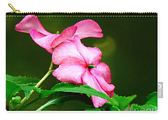 Pink Busy Lizzies Carry-all Pouch