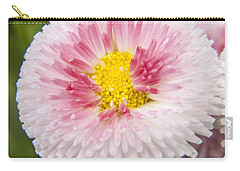 Pink Button Flower Carry-all Pouch