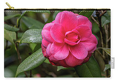 Pink Camelia 02 Carry-all Pouch by Gregory Daley  PPSA