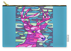 Pink Camo Deer Carry-all Pouch