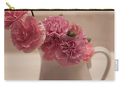 Pink Carnations Carry-all Pouch by Sherry Hallemeier