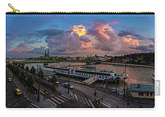 Pink Clouds Above The Danube, Budapest Carry-all Pouch