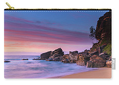 Pink Clouds And Rocky Headland Seascape Carry-all Pouch