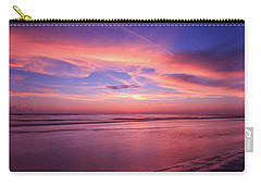 Carry-all Pouch featuring the photograph Pink Sky And Ocean by Doug Camara