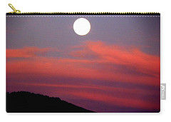 Pink Clouds With Moon Carry-all Pouch