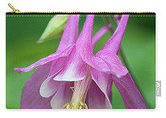 Carry-all Pouch featuring the photograph Pink Columbine - D010096 by Daniel Dempster