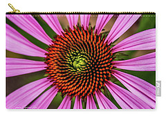 Carry-all Pouch featuring the photograph Pink Cornflower by Joann Copeland-Paul