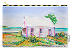 Pink Cottage Carry-all Pouch by Patricia Piffath