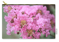 Carry-all Pouch featuring the photograph Pink Crepe Myrtle Close-up by Sheila Brown