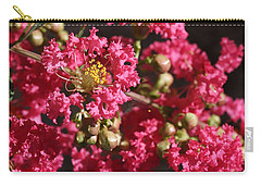 Carry-all Pouch featuring the photograph Pink Crepe Myrtle Flowers by Debi Dalio