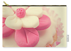 Carry-all Pouch featuring the photograph Pink Cupcake by Lyn Randle