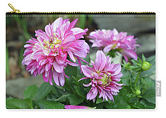 Pink Dahlia Flowers Carry-all Pouch