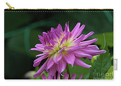 Pink Dahlia Carry-all Pouch by Glenn Franco Simmons