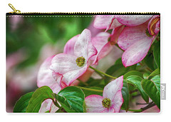 Carry-all Pouch featuring the photograph Pink Dogwood by Bonnie Bruno