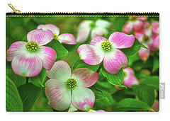 Pink Dogwoods 003 Carry-all Pouch by George Bostian