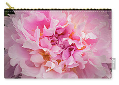 Pink Double Peony Carry-all Pouch