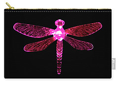 Pink Dragonfly Carry-all Pouch