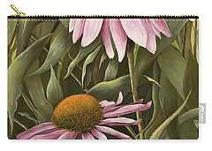 Pink Echinaceas Carry-all Pouch