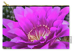 Carry-all Pouch featuring the photograph Pink Echinopsis Bloom  by Saija Lehtonen
