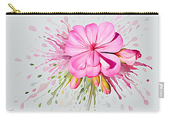 Carry-all Pouch featuring the painting Pink Eruption by Ivana Westin