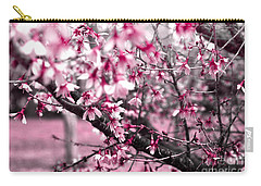 Carry-all Pouch featuring the photograph Pink Explosion by Rebecca Davis