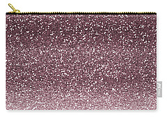 Pink Faux Glitter Ombre Carry-all Pouch