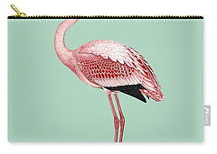 Pink Flamingo Isolated Carry-all Pouch