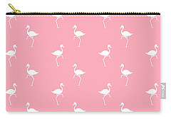 Pink Flamingos Pattern Carry-all Pouch by Christina Rollo