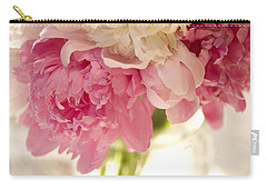 Pink Floal Carry-all Pouch by George Robinson