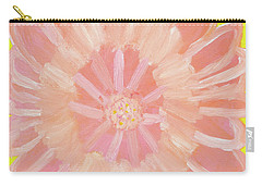 Carry-all Pouch featuring the painting Pink Flower by Artists With Autism Inc